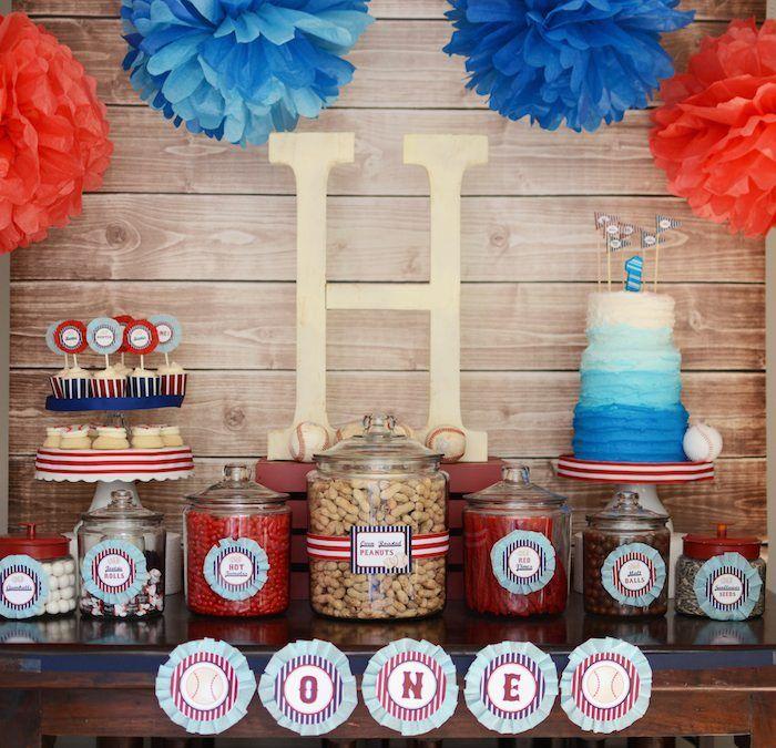 HomeONE Baseball themed birthday party with So Many Fabulous