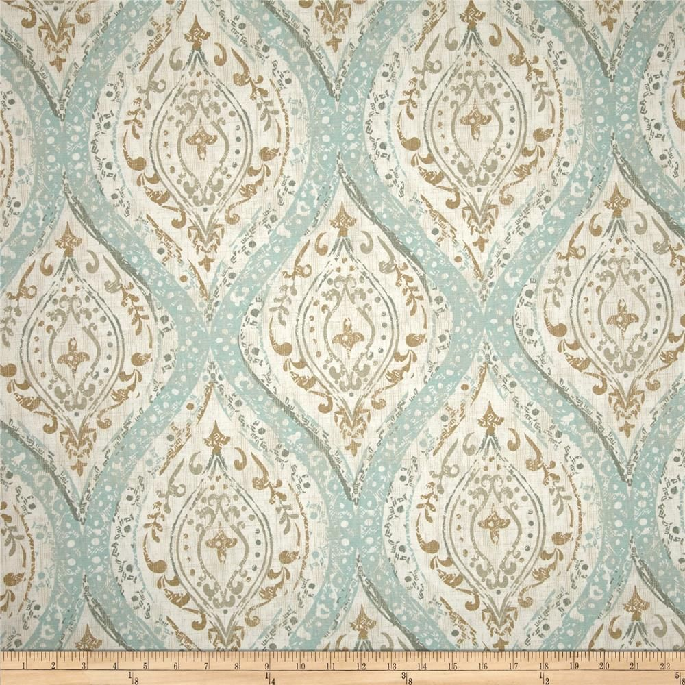 Magnolia Home Fashions Ariana Spa is part of Ariana Spa Magnolia Home Fashions - Screen printed on cotton duck; this versatile, medium weight fabric is perfect for window accents (draperies, valances, curtains and swags), accent pillows, bed skirts, duvet covers, upholstery and other home decor accents  Create handbags, tote bags, aprons and more  Colors include ivory, tan and teal