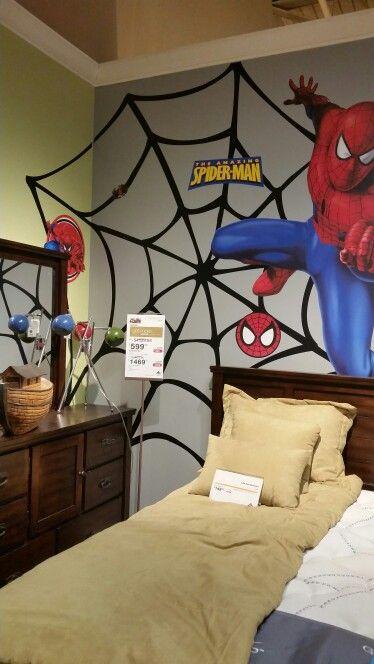 Spiderman themed room cuartos infantiles pinterest - Habitaciones decoradas para ninos ...