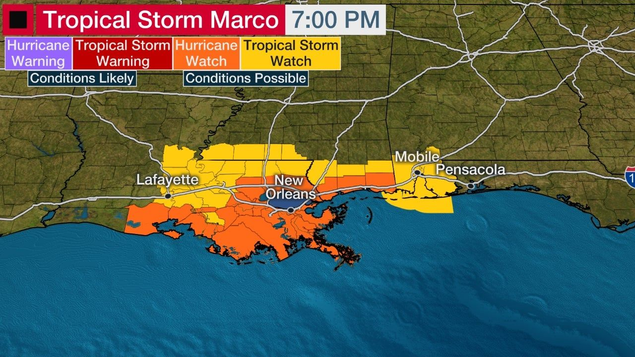 Tropical Storm Marco Forecast To Become A Hurricane West Of Cuba Hurricane Watches Issued In La Ms The Weather Channel In 2020 Tropical Storm Hurricane Watch Storm