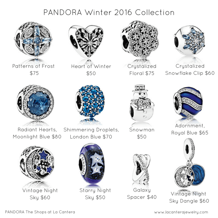 Patterns Of Frost Icy Blues And Magnificent Starry Skies All These And More Inspired The Win Pandora Bracelet Charms Pandora Winter Pandora Bracelet Designs