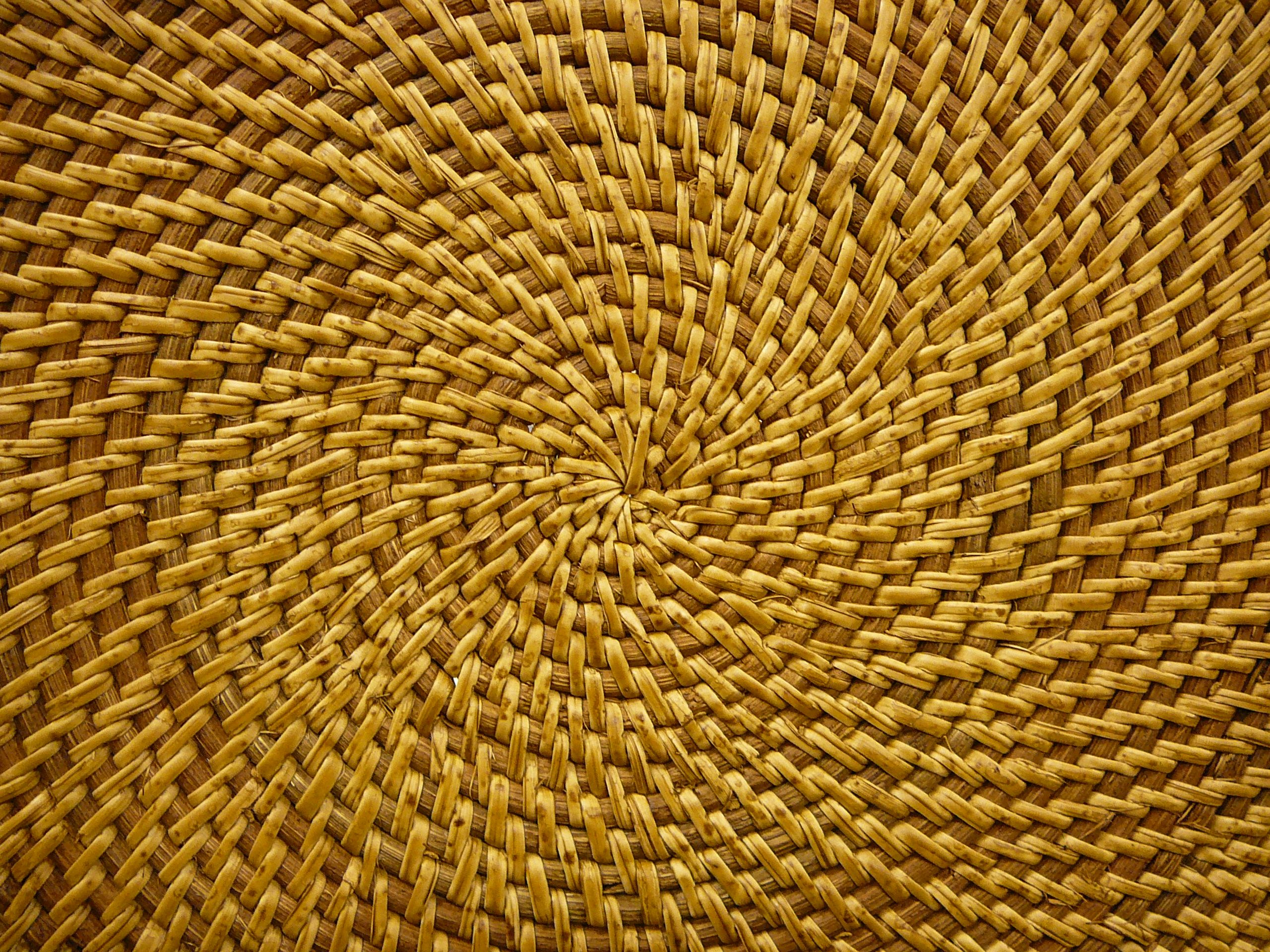 Rattan Basket Weaving Patterns : Basket weave pattern wood golden