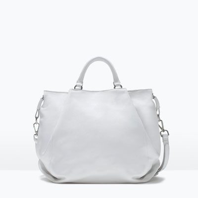 f151444703 WHITE LEATHER SHOPPER BAG-View all-Handbags-WOMAN | ZARA India | Bag ...