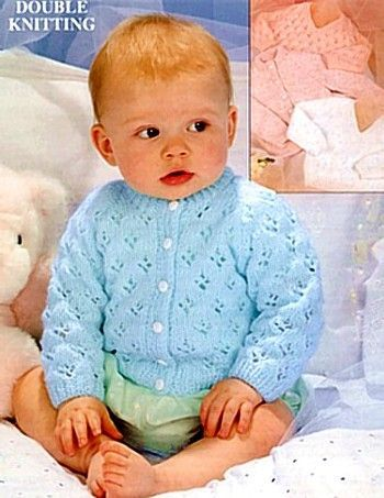 Vintage Patons Baby Knitting Patterns Baby Cardigan