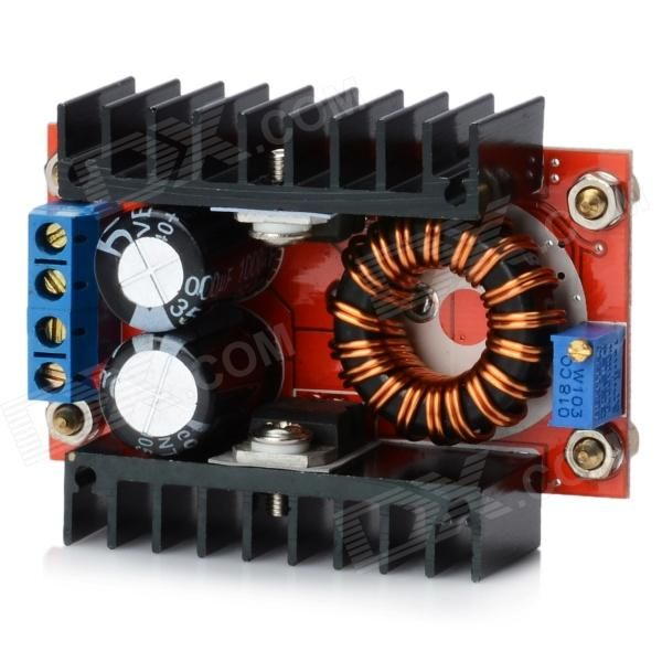 120W DC~DC 10~32V to 35~60V Boost Converter Charger Module - Red