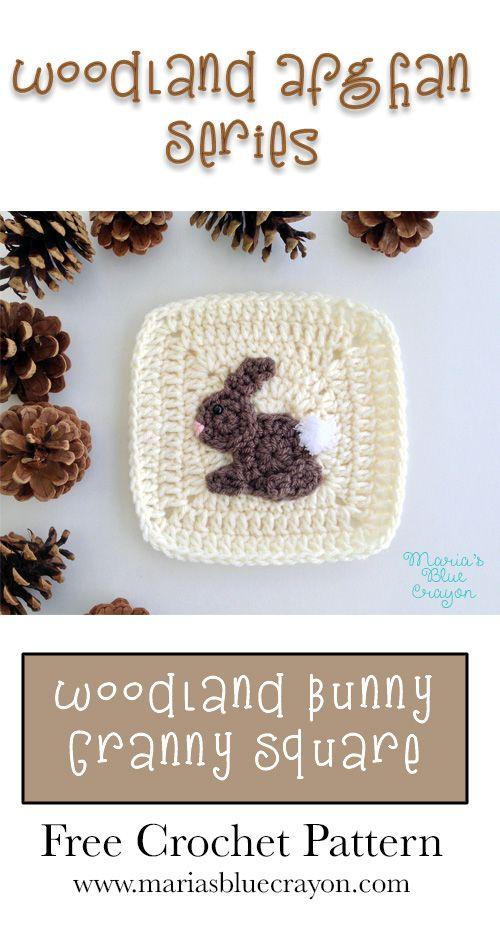 Woodland Bunny Granny Square | Woodland Afghan Series | Free Crochet ...