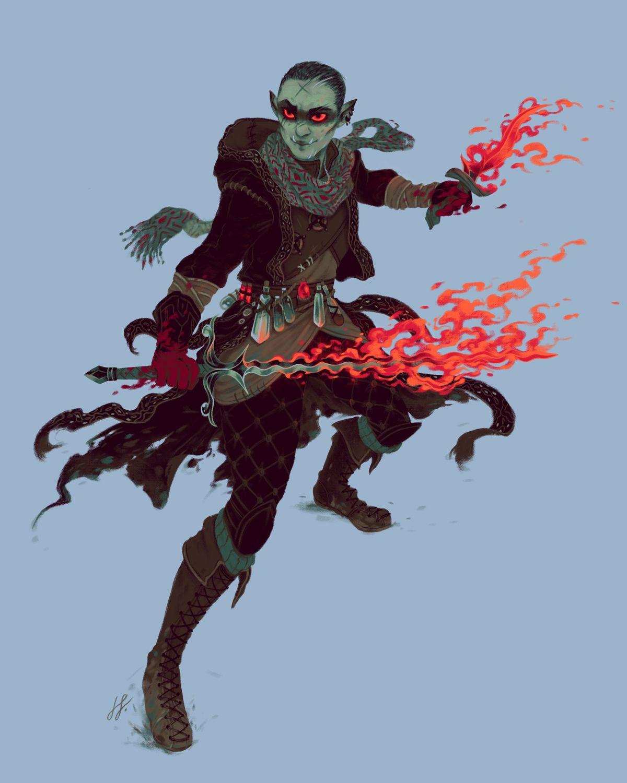 Martin Kirby: OC Here39s My Fire Genasi BarbarianFighter Done By Martin