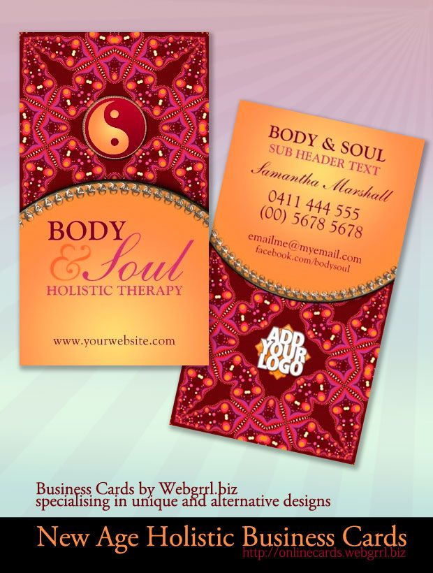 Modern Batik Pattern Yin Yang New Age Business Cards | New Age ...