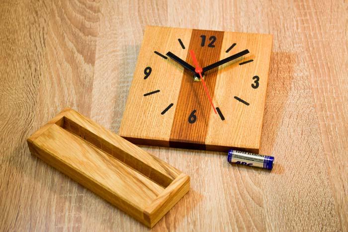 Wooden Table Clock Handmade Life Made Easy Table Clock Clock