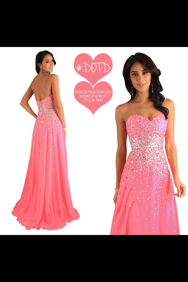 Pink Sparkly Prom Dress Cute Clothes Pinterest Prom Dresses