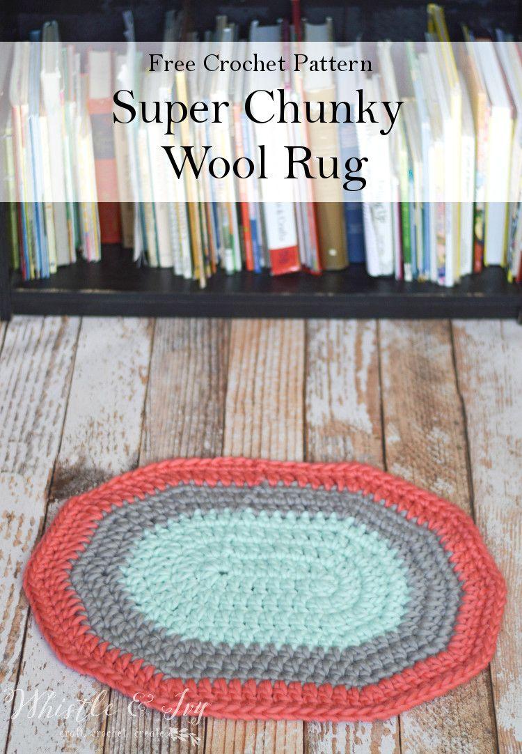 Super chunky oval rug oval rugs super bulky yarn and free crochet free crochet pattern make this fabulous super chunky oval rug with some super bulky yarn bankloansurffo Choice Image