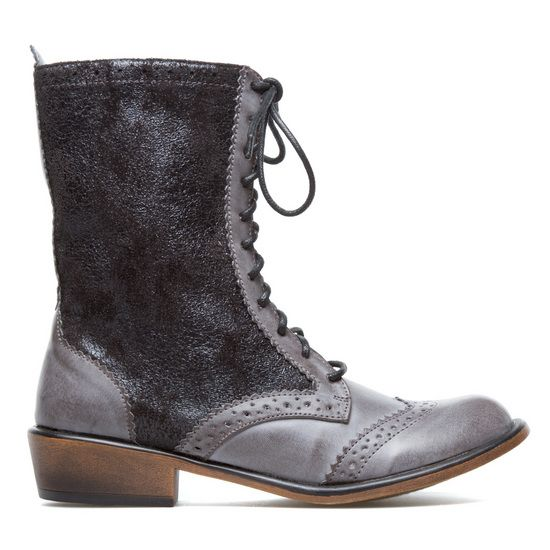 pewter combat boots.