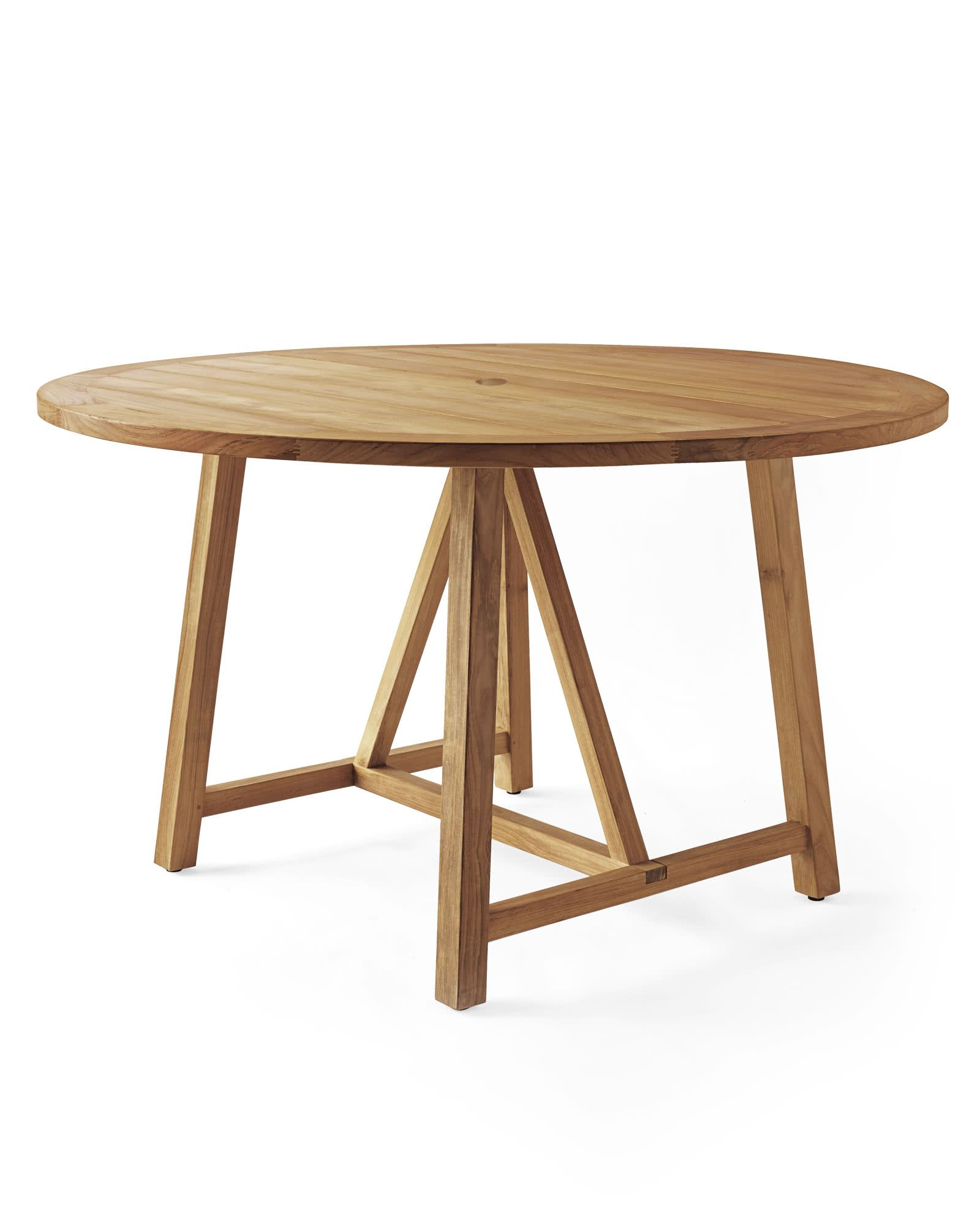 Crosby Teak Round Dining Table Natural Teak Dining Table
