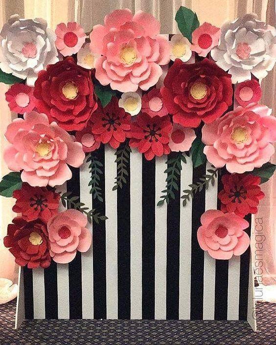 Hermoso fondo para fiestas o eventos decoraciones for Decoraciones de papel