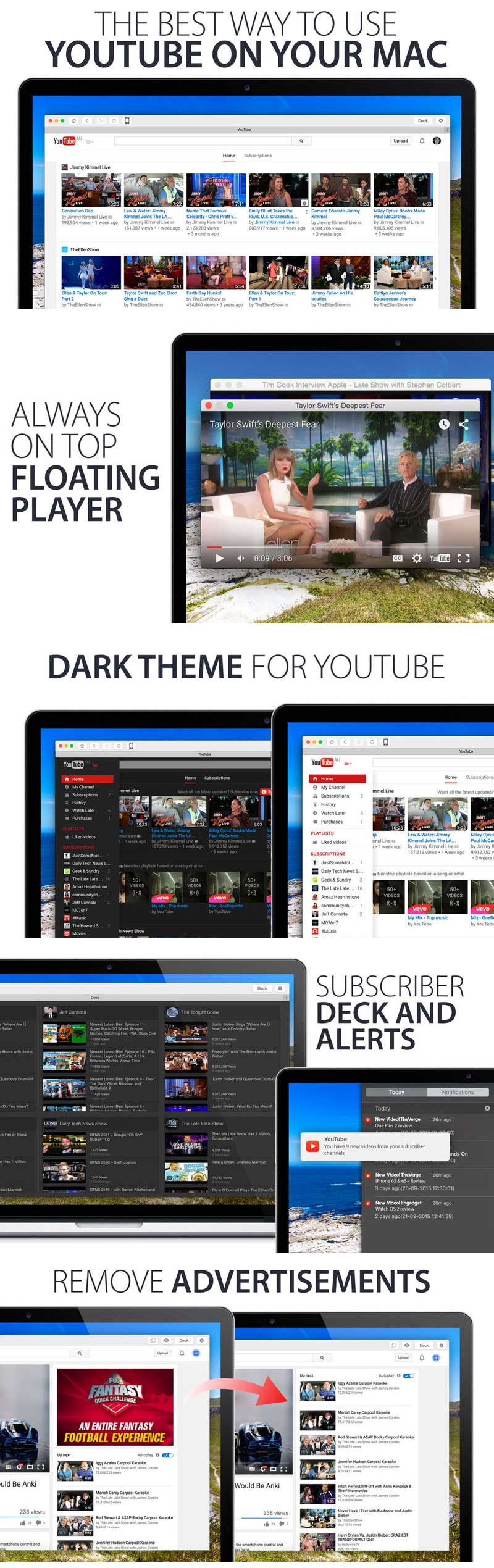 Player for YouTube Pro 1.2 for Mac 破解版 YouTube客户端