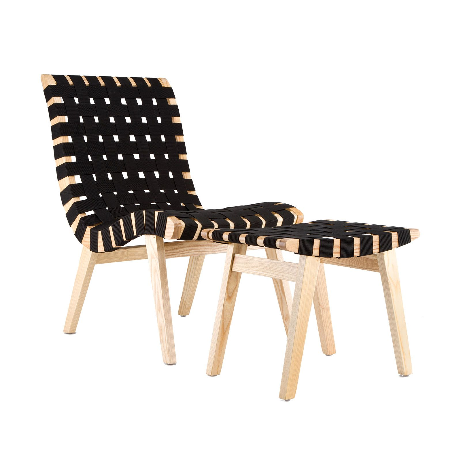 Criss Cross Lounge Chair and Ottoman dotandbo