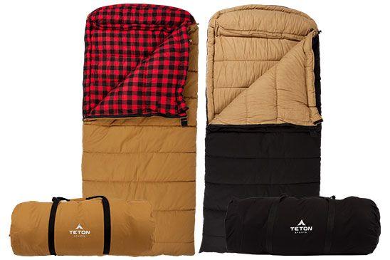 Deer Hunter 35ºf Sleeping Bag Extreme Weather Oversized Canvas By Teton Sports