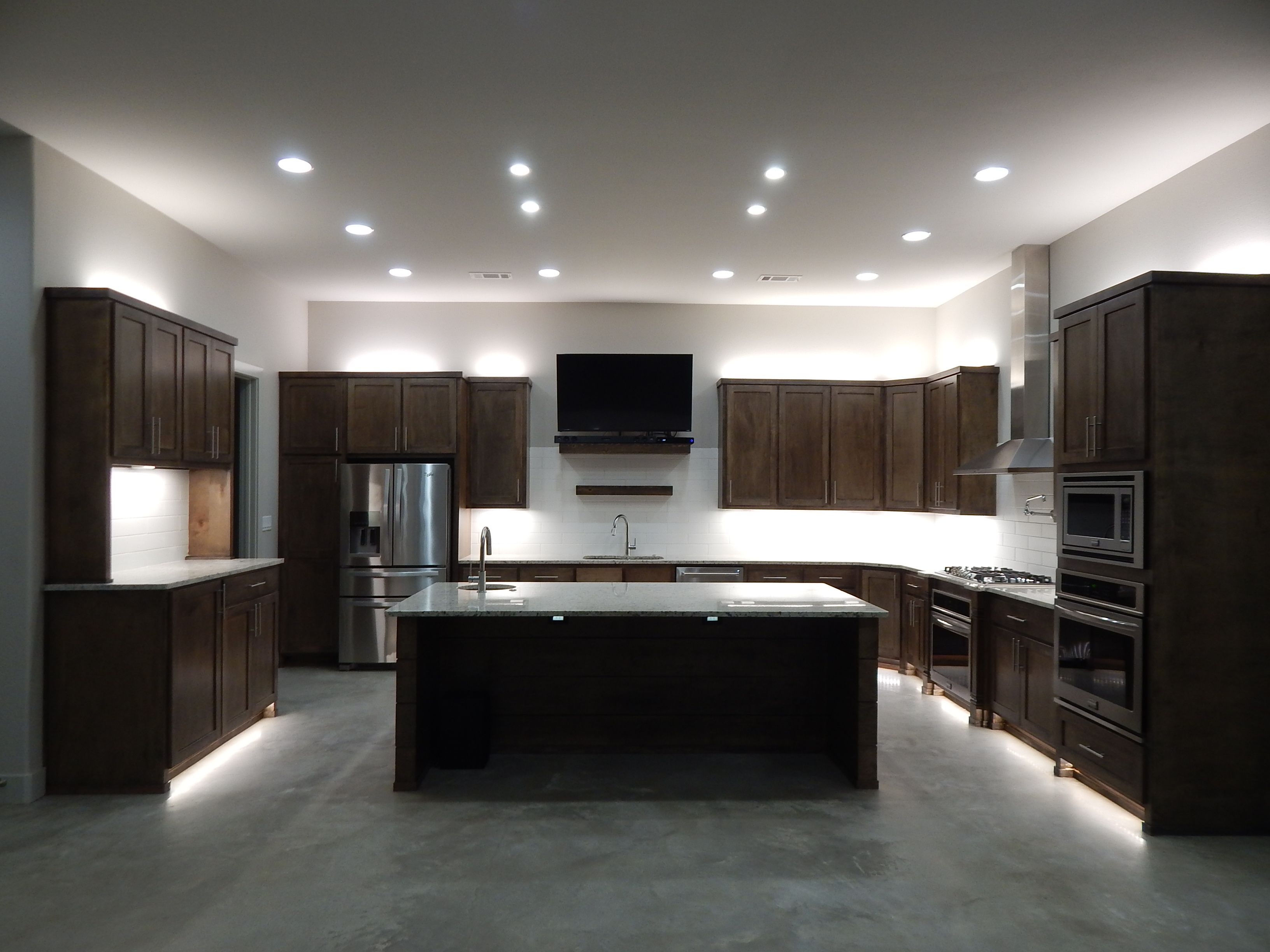 Cabinets Stained Maple Color Is Weathered Teak From Sherwin Williams Paint Agreeable Gray Walls Ceiling Trim
