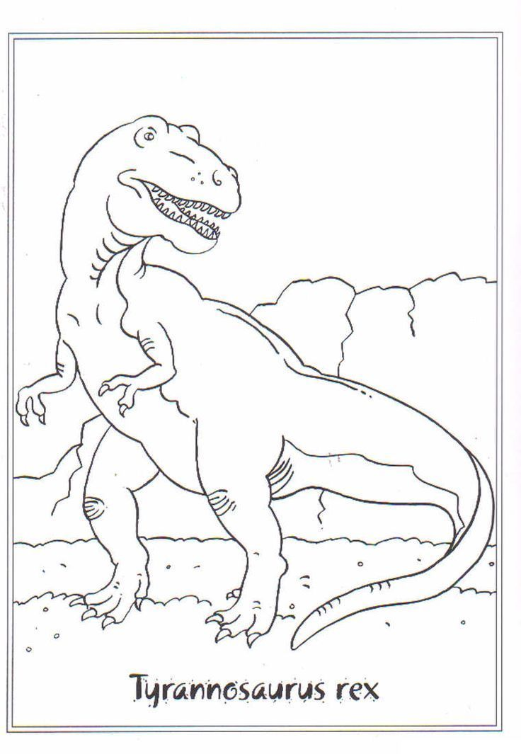 kids-n-fun.de | ausmalbild dinosaurier 2 tyrannosaurus rex