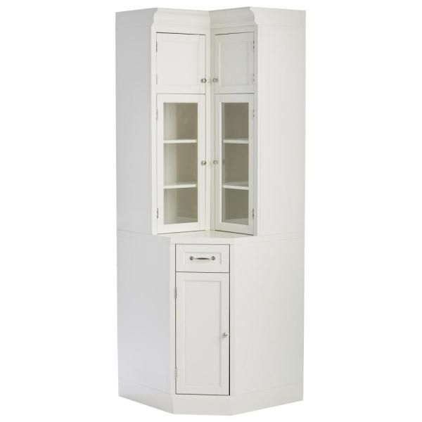Home Decorators Collection Royce True White Modular Corner Cabinet Sk19192c Tw The Home Depot Modular Cabinets Corner Storage Cabinet Storage Cabinets