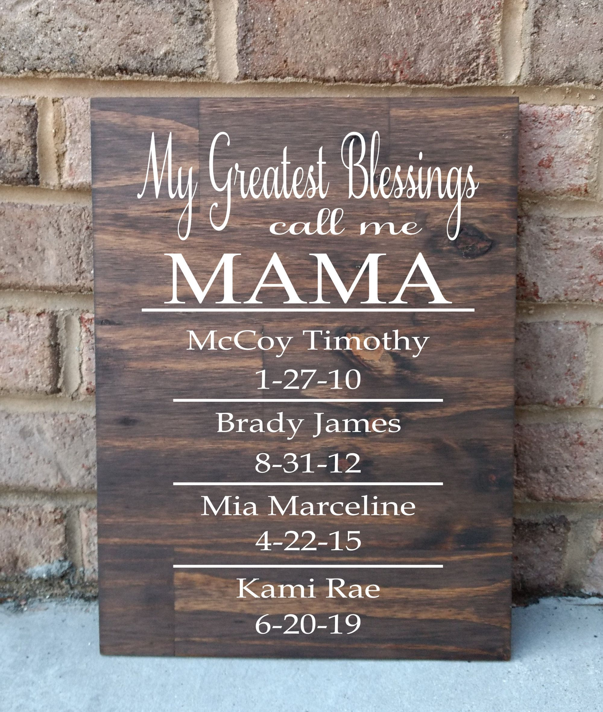My Greatest Blessings Sign Grandchildren Sign Children Sign Gift For Grandparents Gift For Parents Gifts For Grandparents Grandchildren Sign Parent Gifts