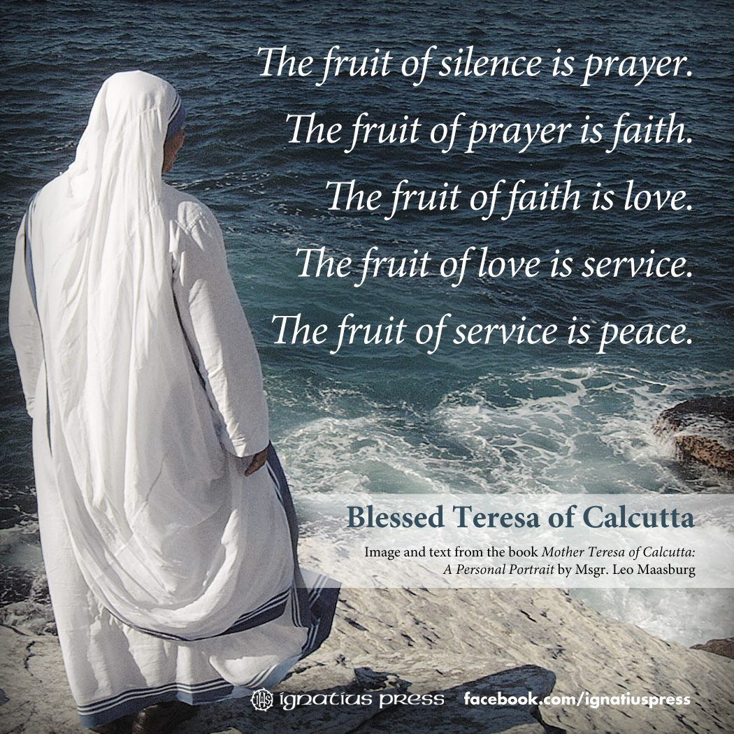 Quotes On Prayer: Quotes About Prayer By Mother Teresa. QuotesGram