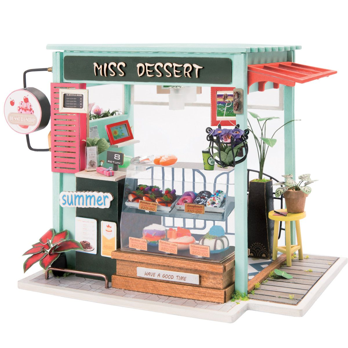 MagiDeal Doll House Miniature DIY Kit Duplex Apartment With Furniture 1:24