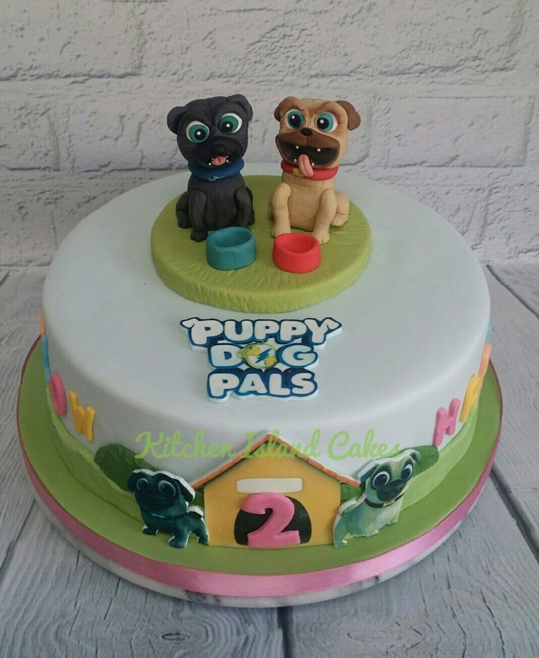 Puppy Dog Pals Birthday Cake With Handmade Toppers By Kitchen