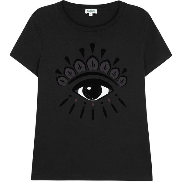KENZO Womens T-Shirts KENZO Black Printed Eye Cotton T-shirt (2 465fa50b7f