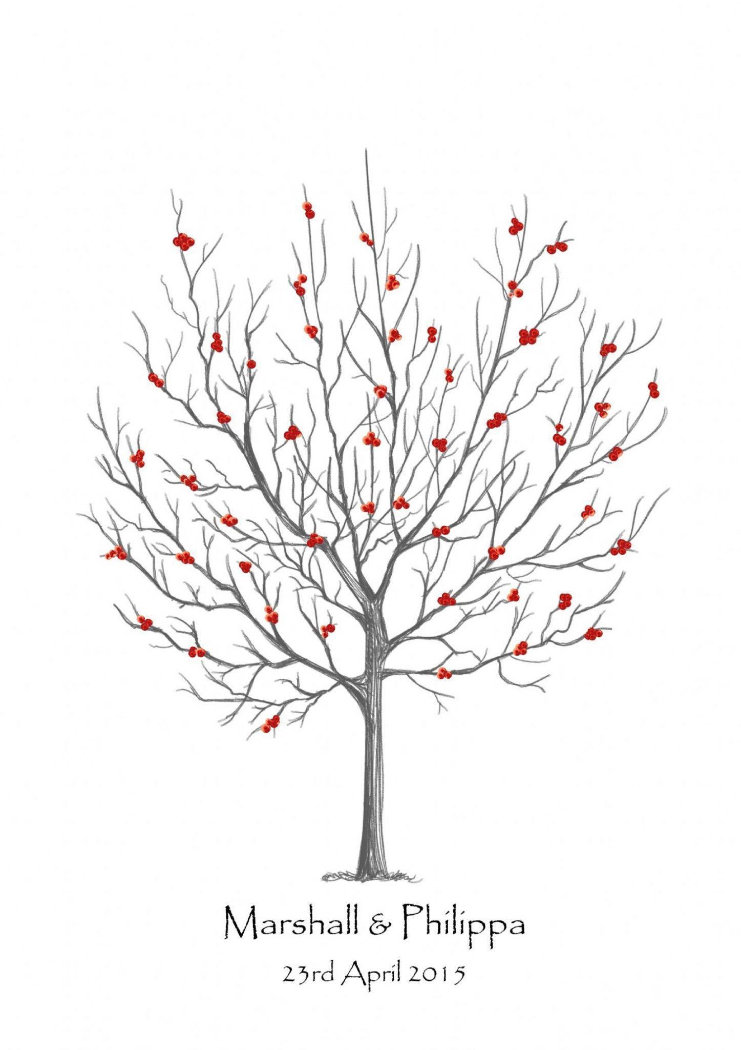 Rowan Tree Tattoo : rowan, tattoo, Rowan, Fingerprint, Guest, Tree,, Drawing,, Doodle