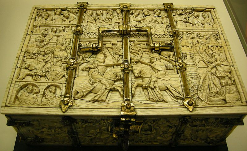 File:Mnma, casket with assoulkt to the castle of Love and other romance scenes, paris 1300-1310, ivory 02.JPG