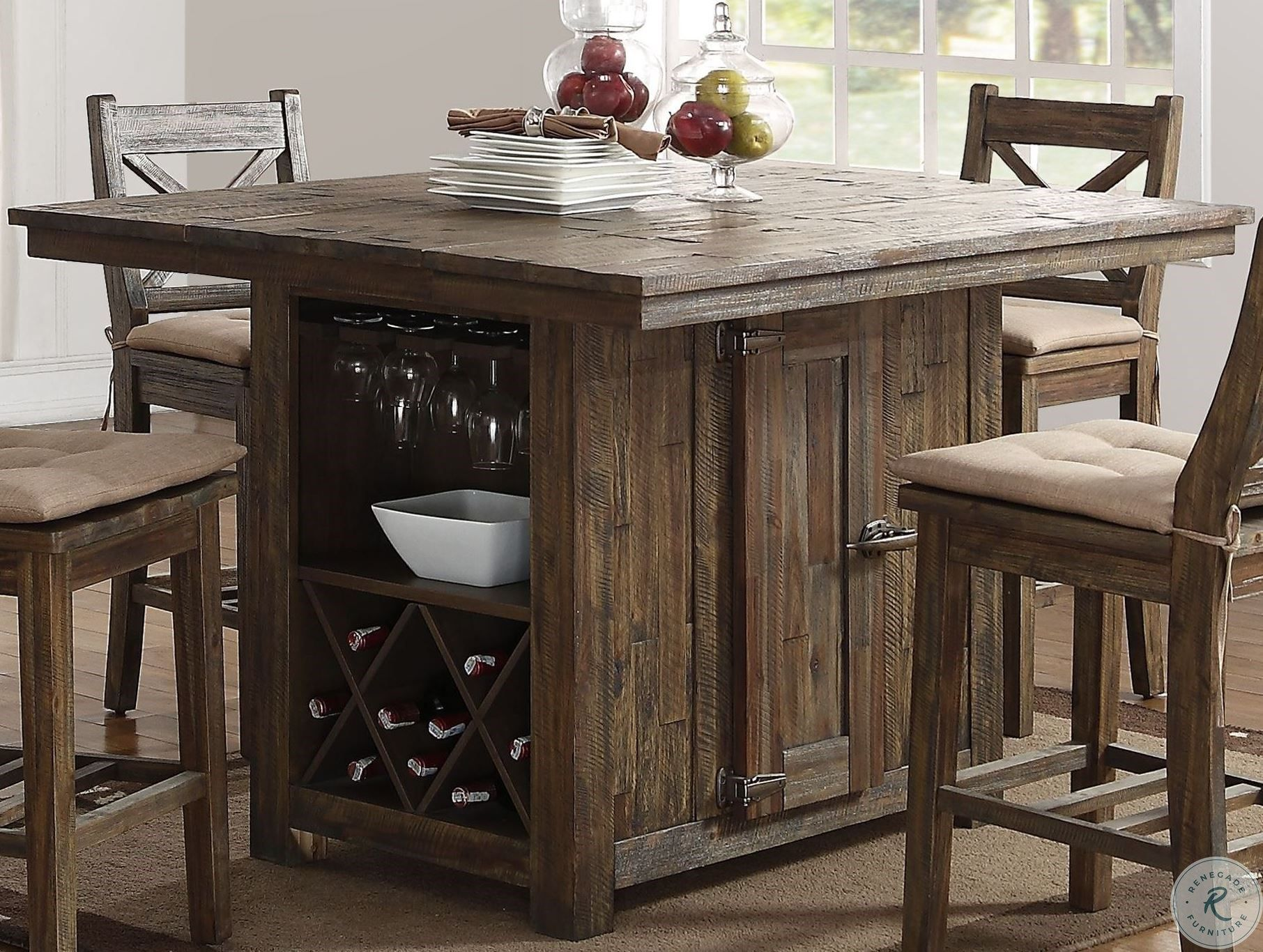 Heather Two Tone Extendable Island Table Counter Height Dining Room Tables Top Kitchen Table Bar Height Kitchen Table