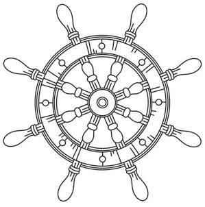 Pirate Ship Wheel Coloring Pages Pirate Ship Wheel Ship Wheel