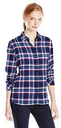 c1db68dbcb3 Dickies Women s Long Sleeve Plaid Flannel Shirt