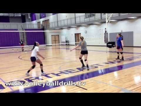 Volleyball Conditioning Drill Pass Out Playlist Volleyball Conditioning Volleyball Workouts Volleyball Skills
