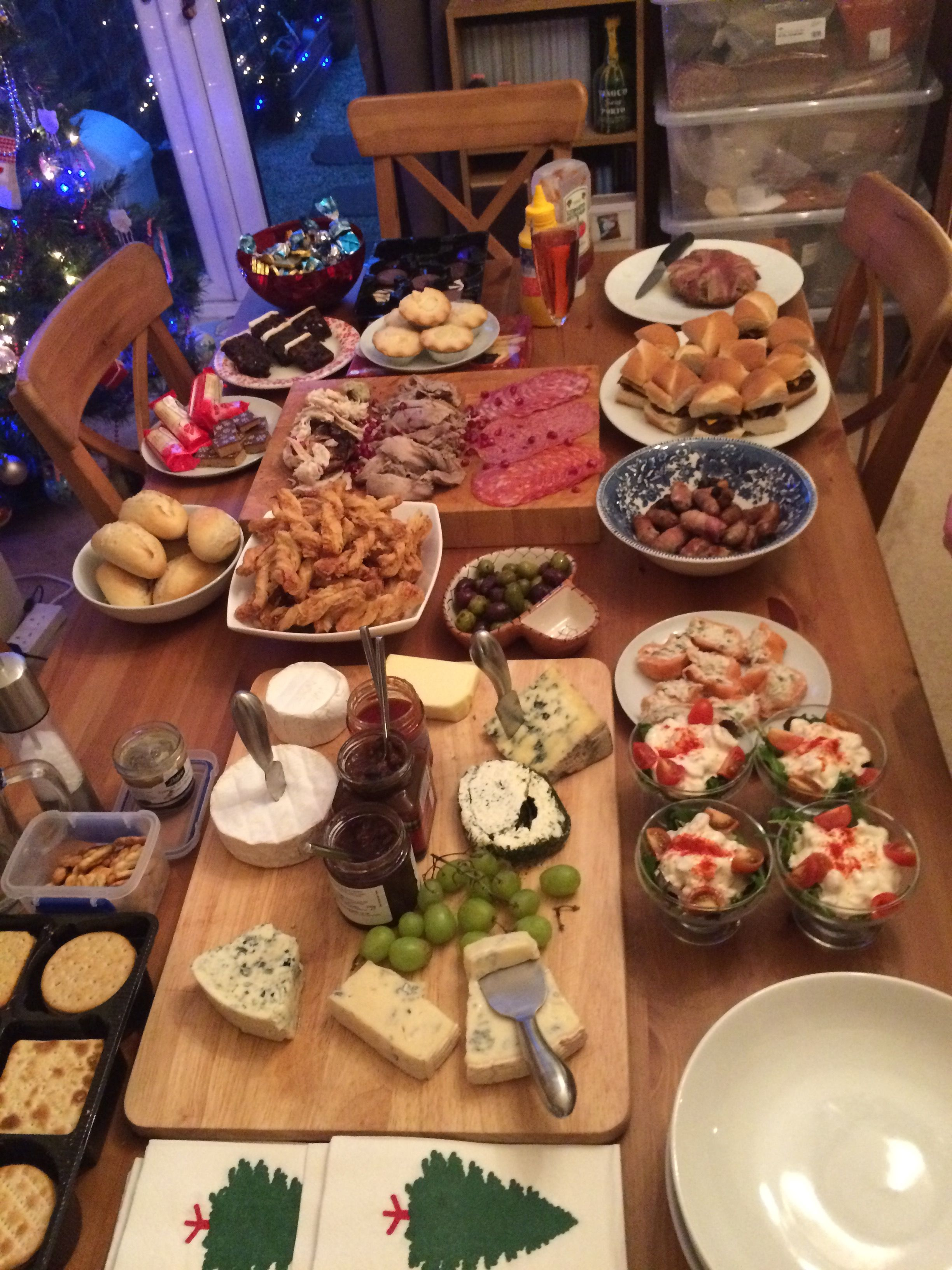 The boxing day buffet, love cheese, all its needs it our