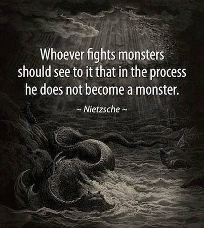 Fighting the monsters under your bed is a tough job. Hold onto your warmth and compassion through it all, and don't let anyone turn your soul to ice.