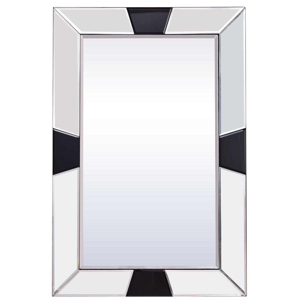 23 5 X 35 5 Rectangular Wall Mounted Wooden Frame Bathroom Mirror Mirror Wall Bathroom Wood Framed Mirror Mirror Wall [ 1200 x 1200 Pixel ]