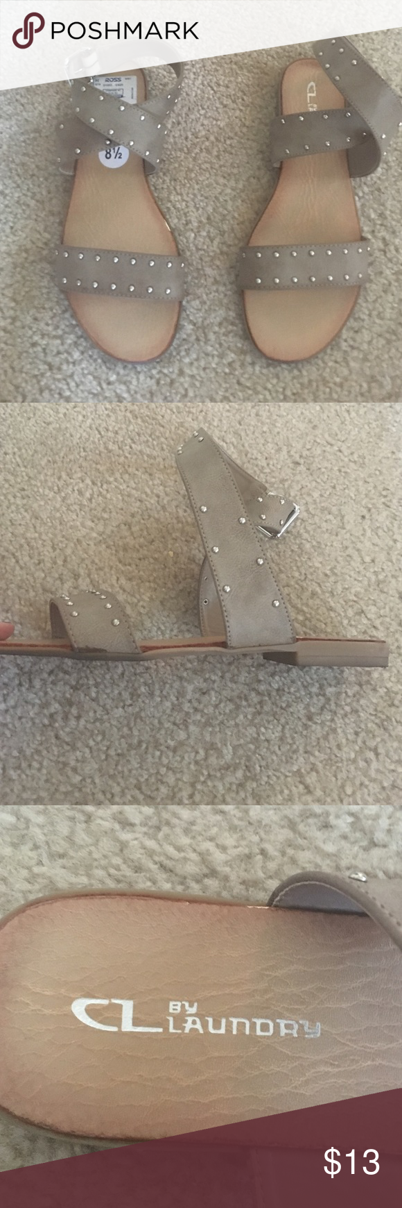 Chinese laundry tan studded sandals Great condition, they just don't fit me Chinese Laundry Shoes Sandals