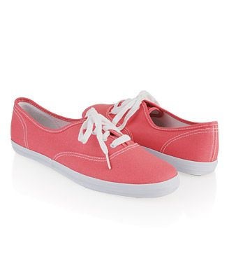 Lace-up tennis shoes in pink from Forever 21.