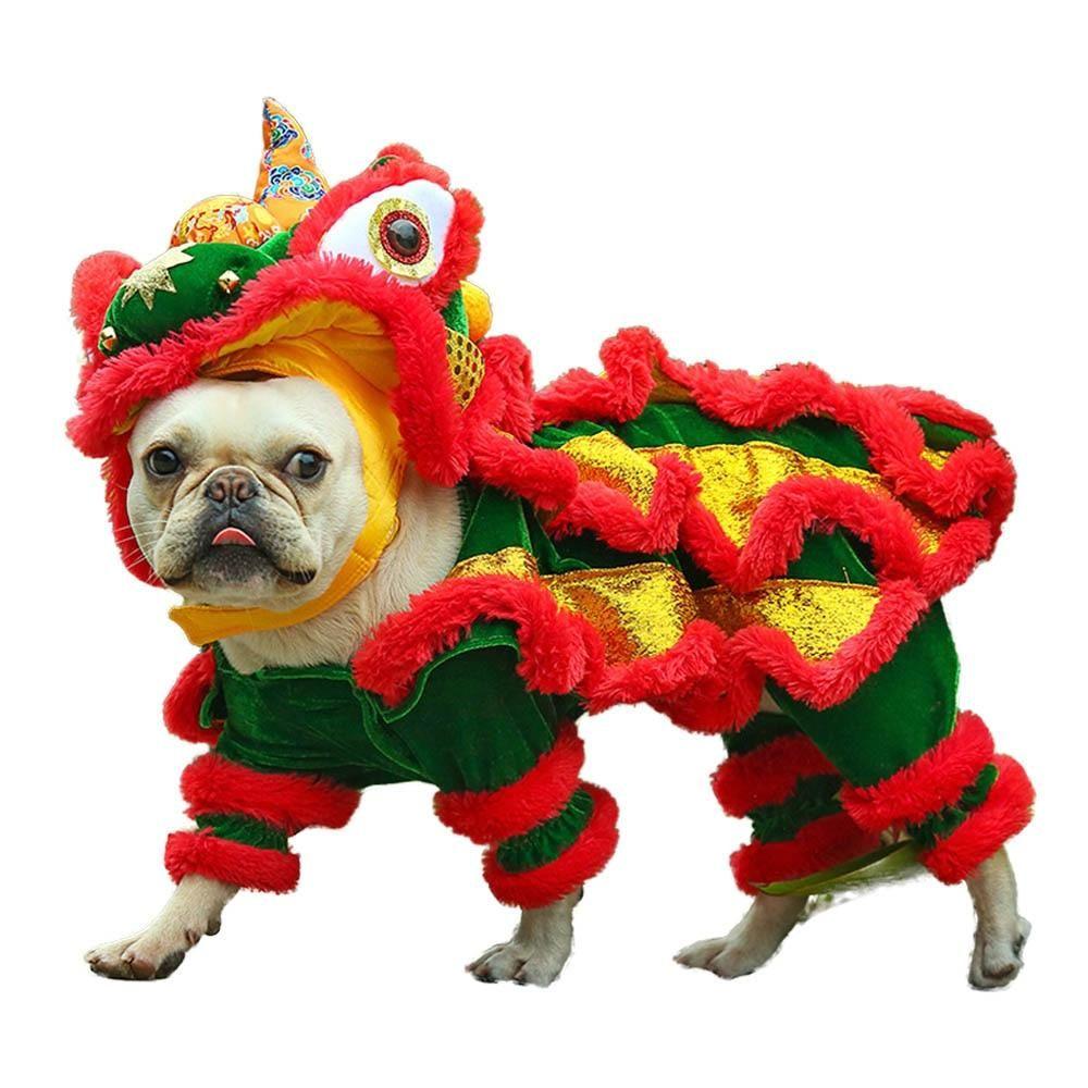 Funny Pet Costume Chinese Lion Dance Suit Cat Dog Costume Pet