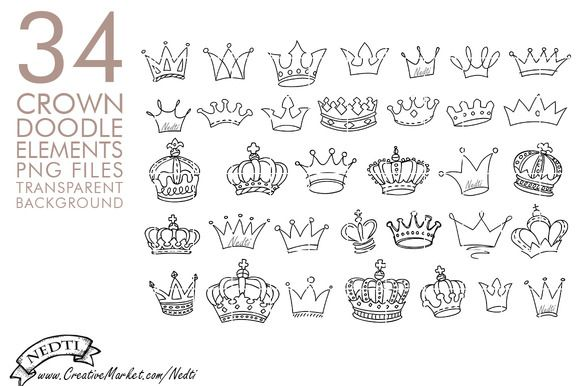 Crowns Doodle Hand Drawn Png Clipart How To Draw Hands Crown Drawing Doodles