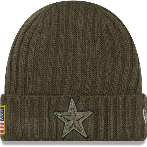New Era Men s Cowboys Salute to Service  17 Knit Cap (Green Dark ... e57ff722a