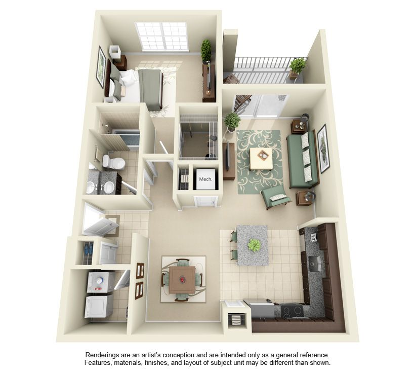 The Crossing Apartments Dc: Westhope 880 Sq. Ft.