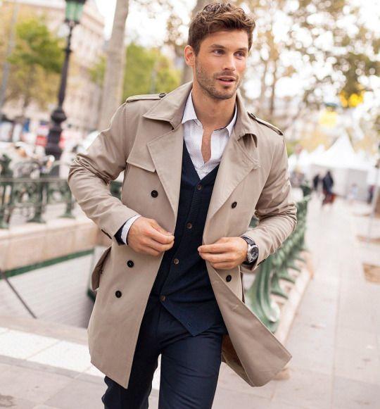 parfaitgentleman | Fall outfits men, Mens outfits, Trench coat men