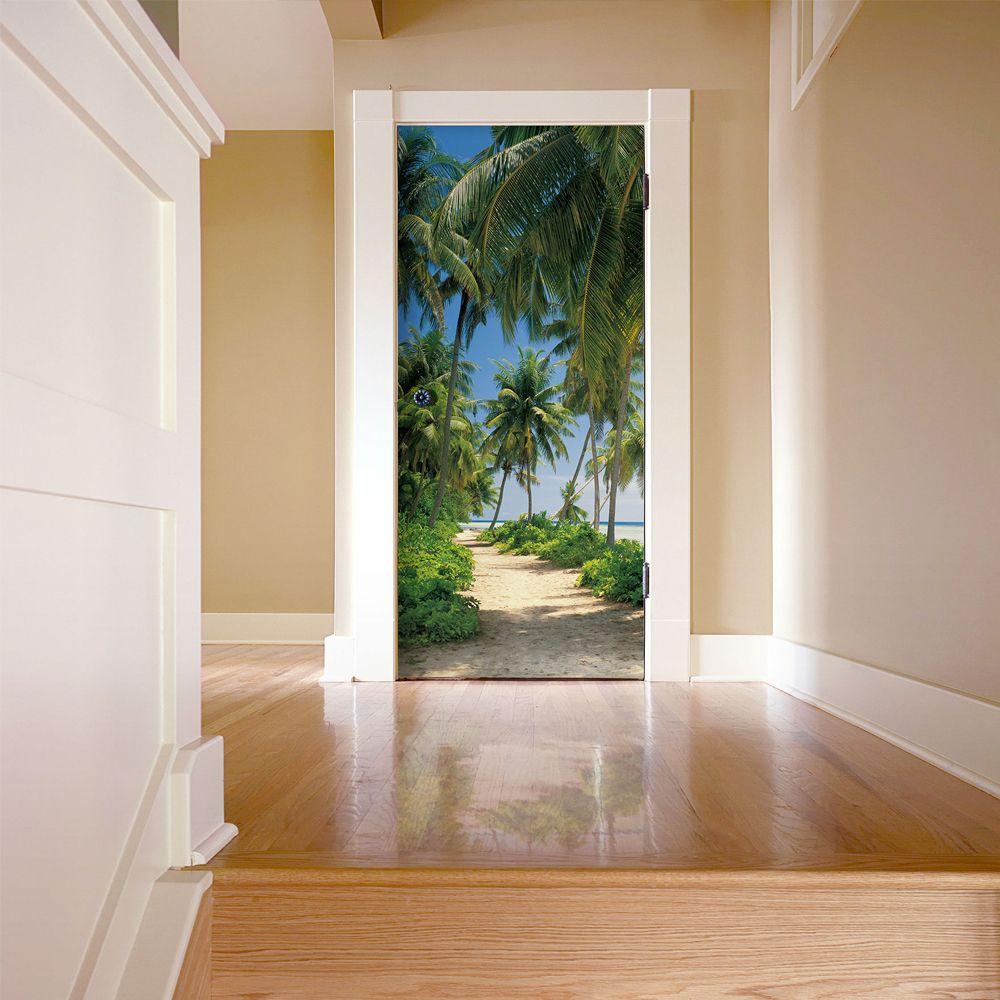 Door murals way to the beach door mural 063dbcmur for Fotomurales decorativos