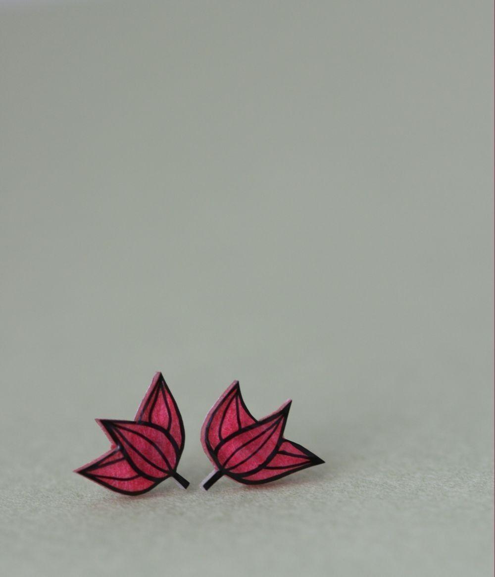 Water Lilies - Earring Studs. $17.00, via Etsy.