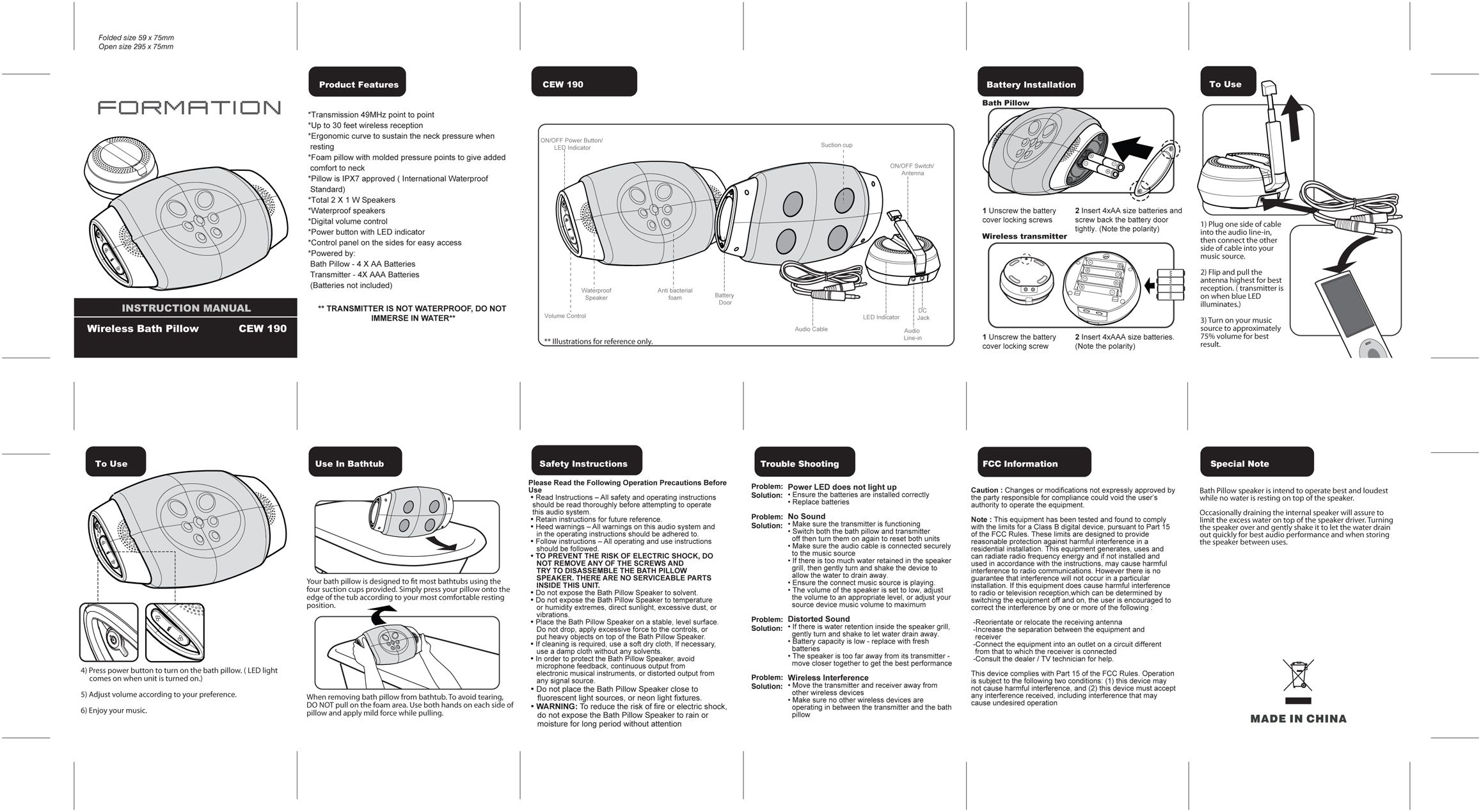 sample instruction manual layout format