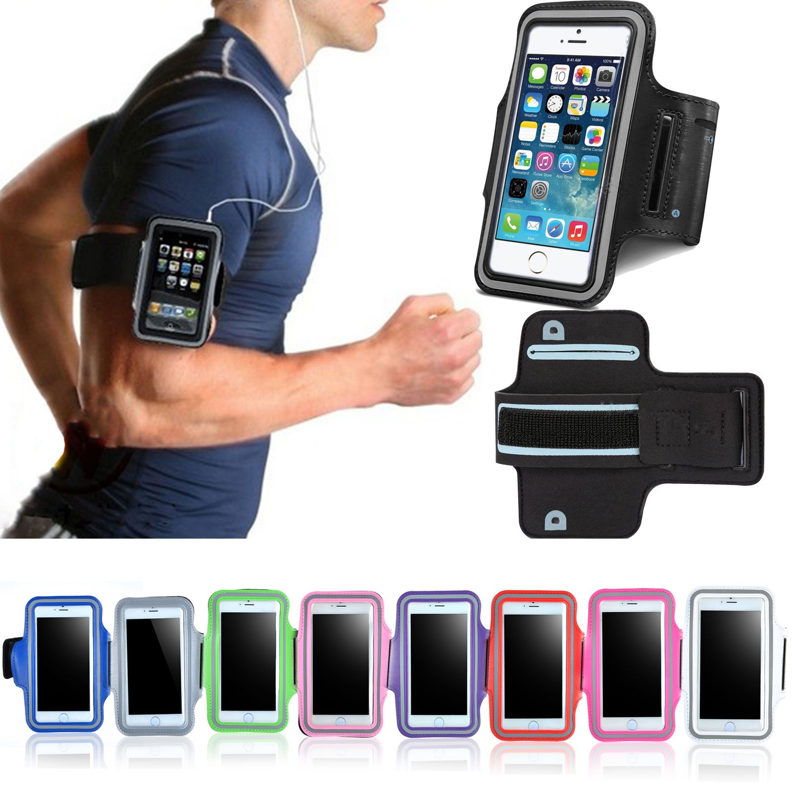 Mobile Phone Accessories Sports Running Waterproof Armband For Iphone 5s Cover Nylon Pouch Arm Band For Apple Iphone5s Se 5 5c 5s Phone Cases Bag Armbands