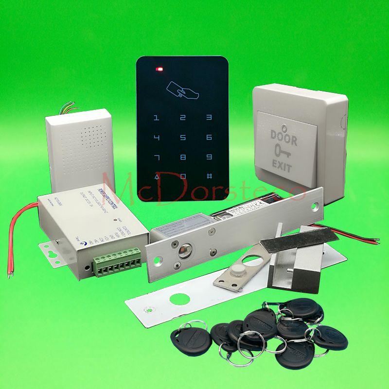 Brand New Diy Rfid Door Access Control Kit Set With Electric Bolt Lock Card Full Glass Door Access Control System Affiliate Access Control Door Lock System Electric Bolt